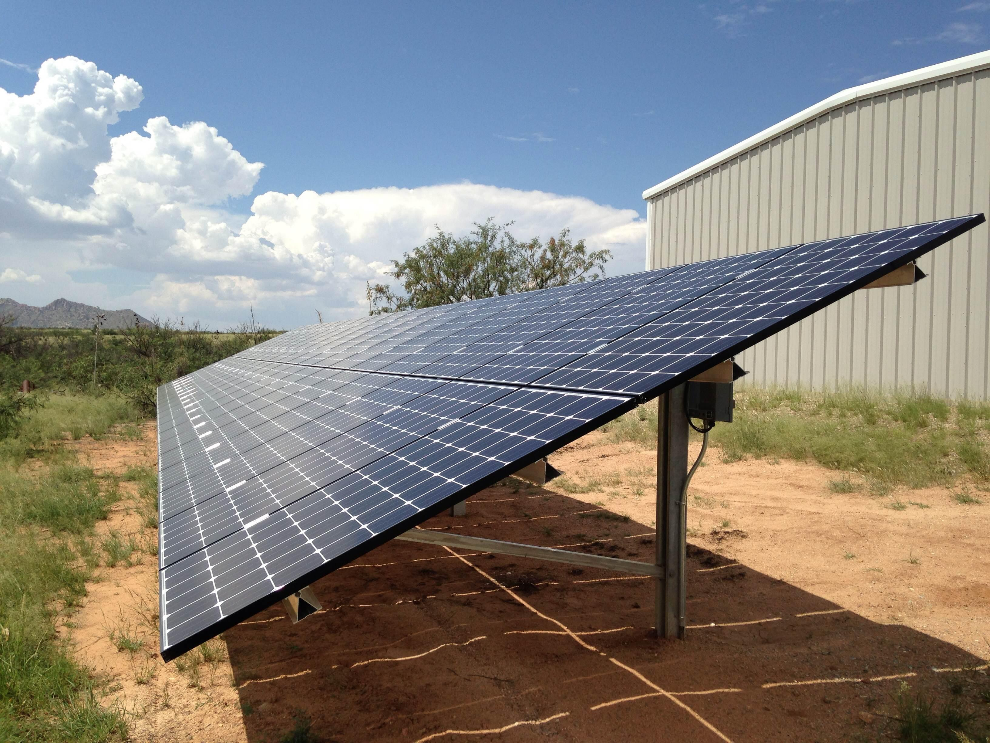 Ground Mount solar system in Dragoon Arizona