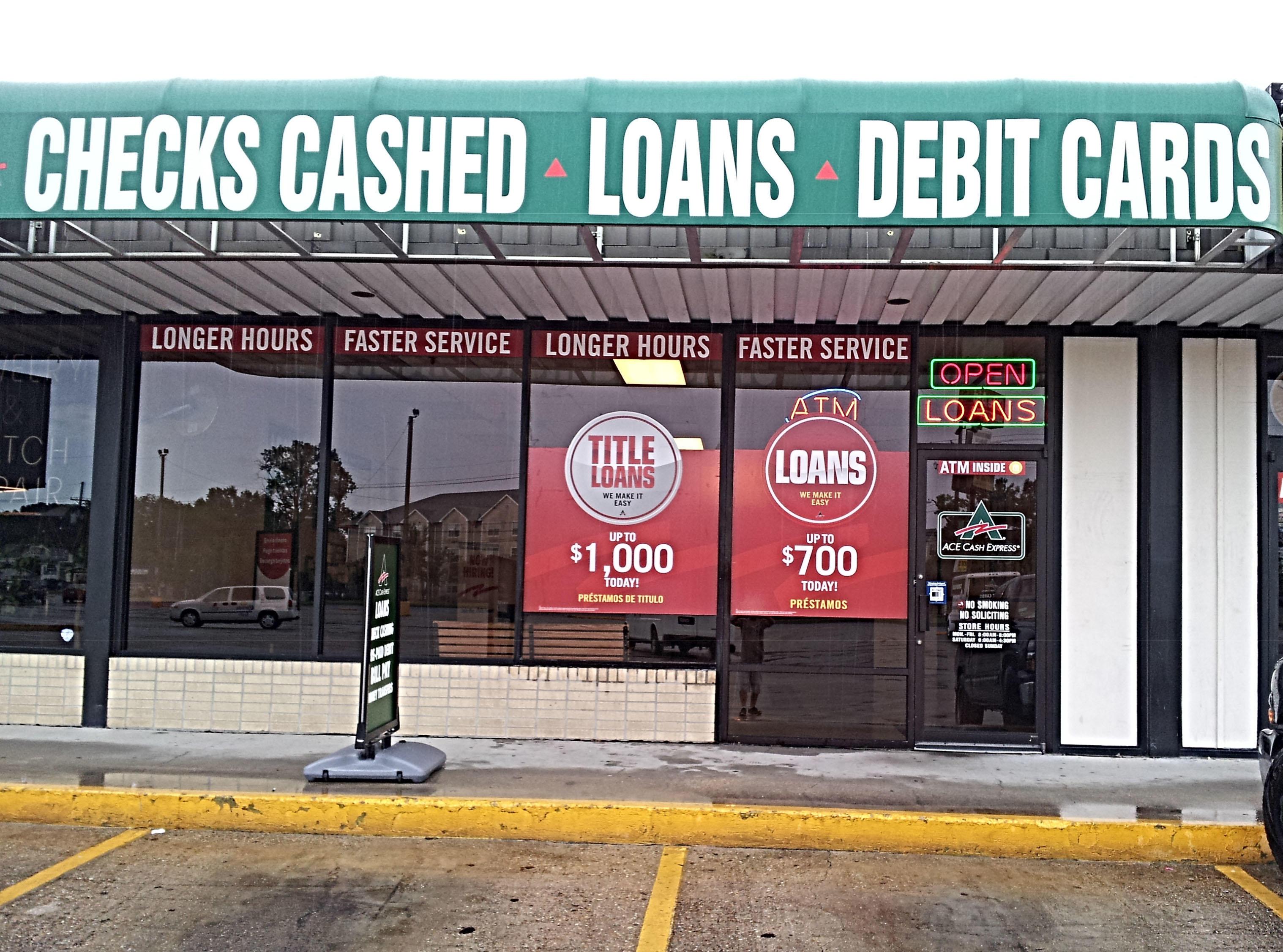 Ace cash express jefferson la business directory - Cash express la valentine ...