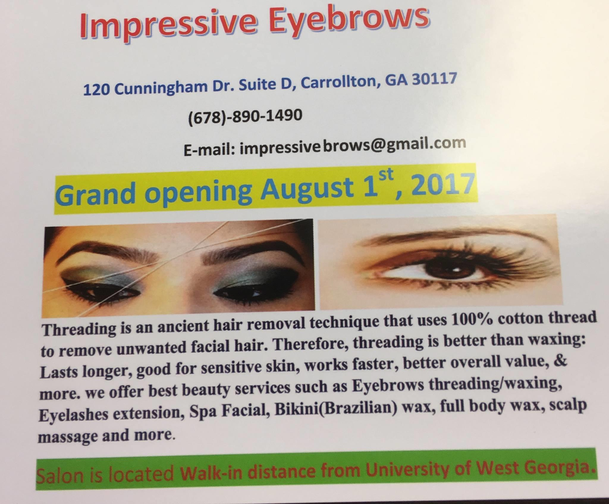 Impressive Eyebrows Threading/Waxing B (by the University of West Georgia) image 2