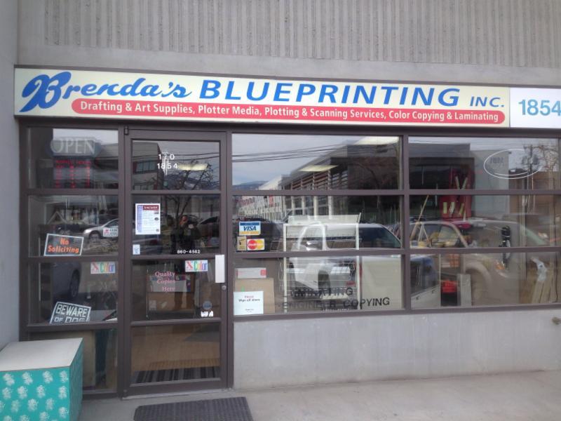 Brenda's Blueprinting in Kelowna