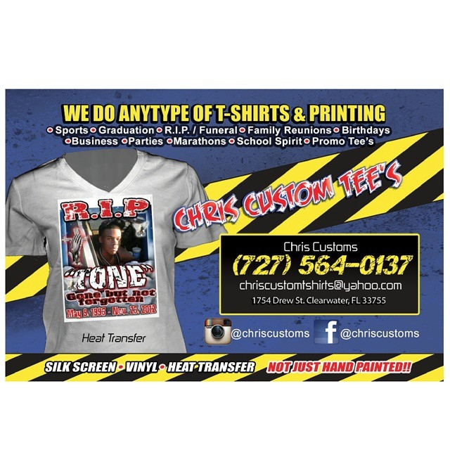 Chris customs t shirt in clearwater fl whitepages for T shirt printing website