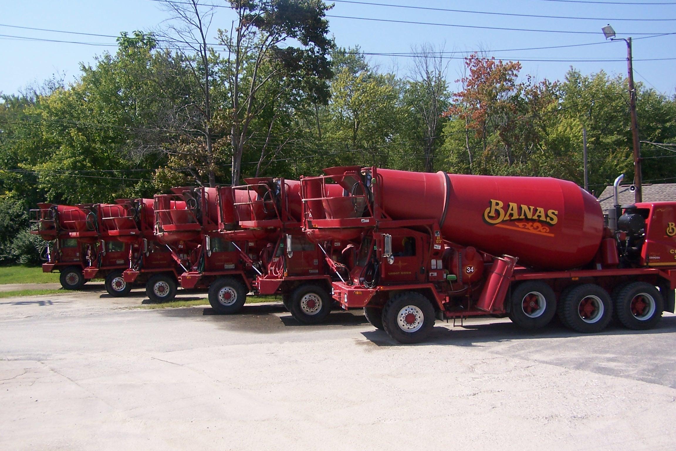 Fleet of Banas Concrete Service