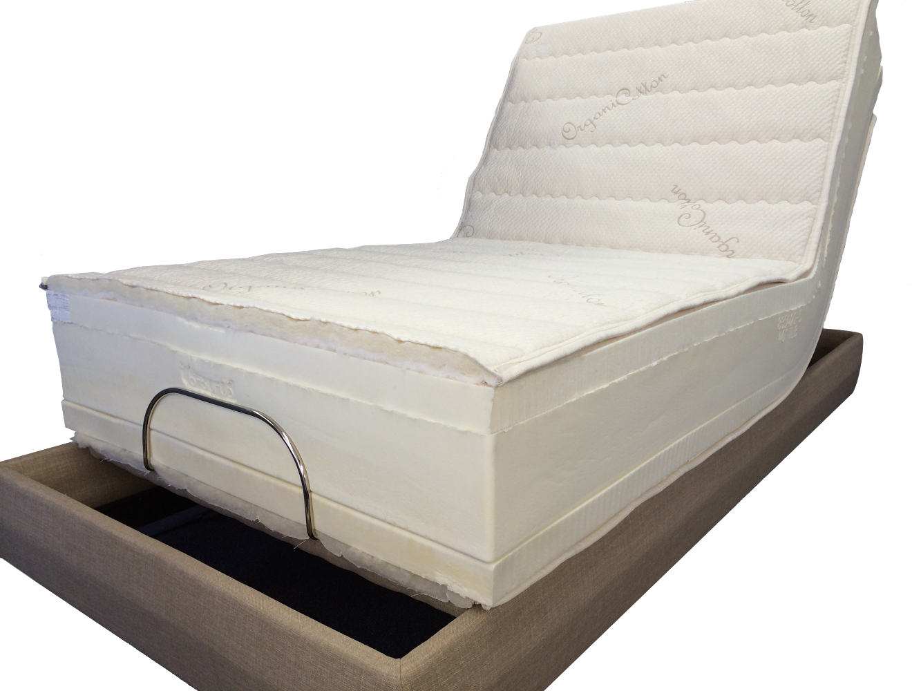 Latex Mattresses bend perfectly on adjustable beds