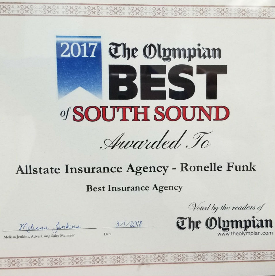 Ronelle Funk Insurance Yelm: Allstate Insurance image 2