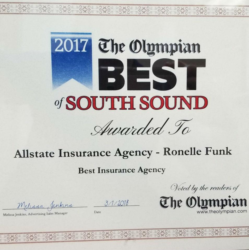 2017 Best of the South Sound Award Winner!