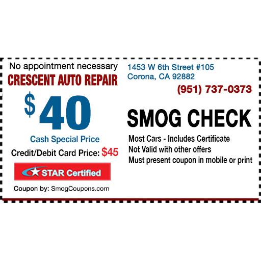 Crescent Auto Repair Smog Check
