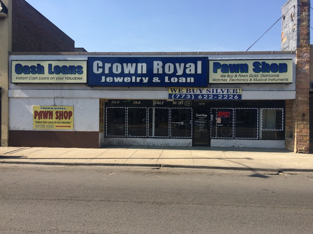crown royal jewelry loan at 6210 w north av chicago il