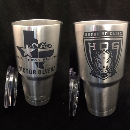 Stainless Steel 30oz Tumblers. customization starting at only $20 per cup. Call today.