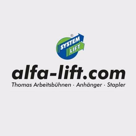 alfa-lift.com Thomas Arbeitsbühnen, Anhänger, Stapler