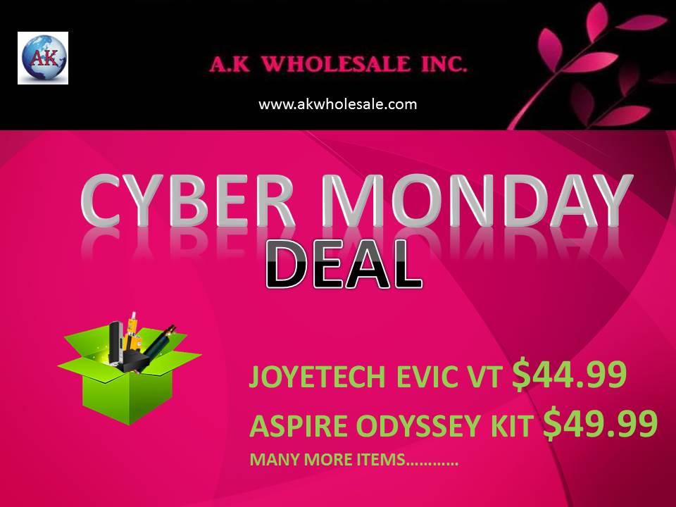 CYBER MONDAY DEAL | AK WHOLESALE INC WWW.AKWHOLESALE.COM | 1-847-895-7080