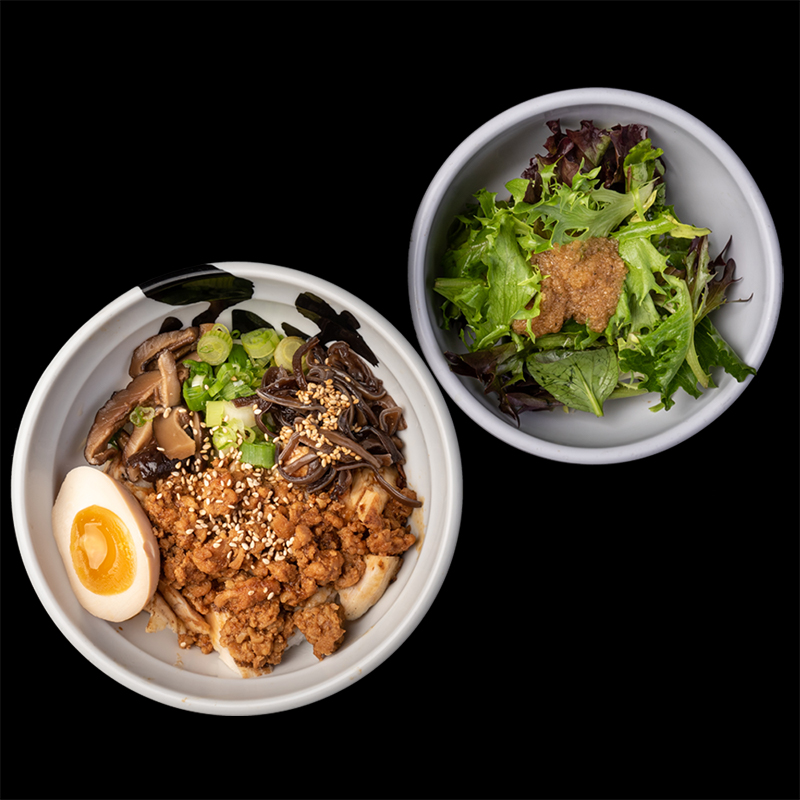 Click to expand image of Chicken Chashu Bowl* & Salad