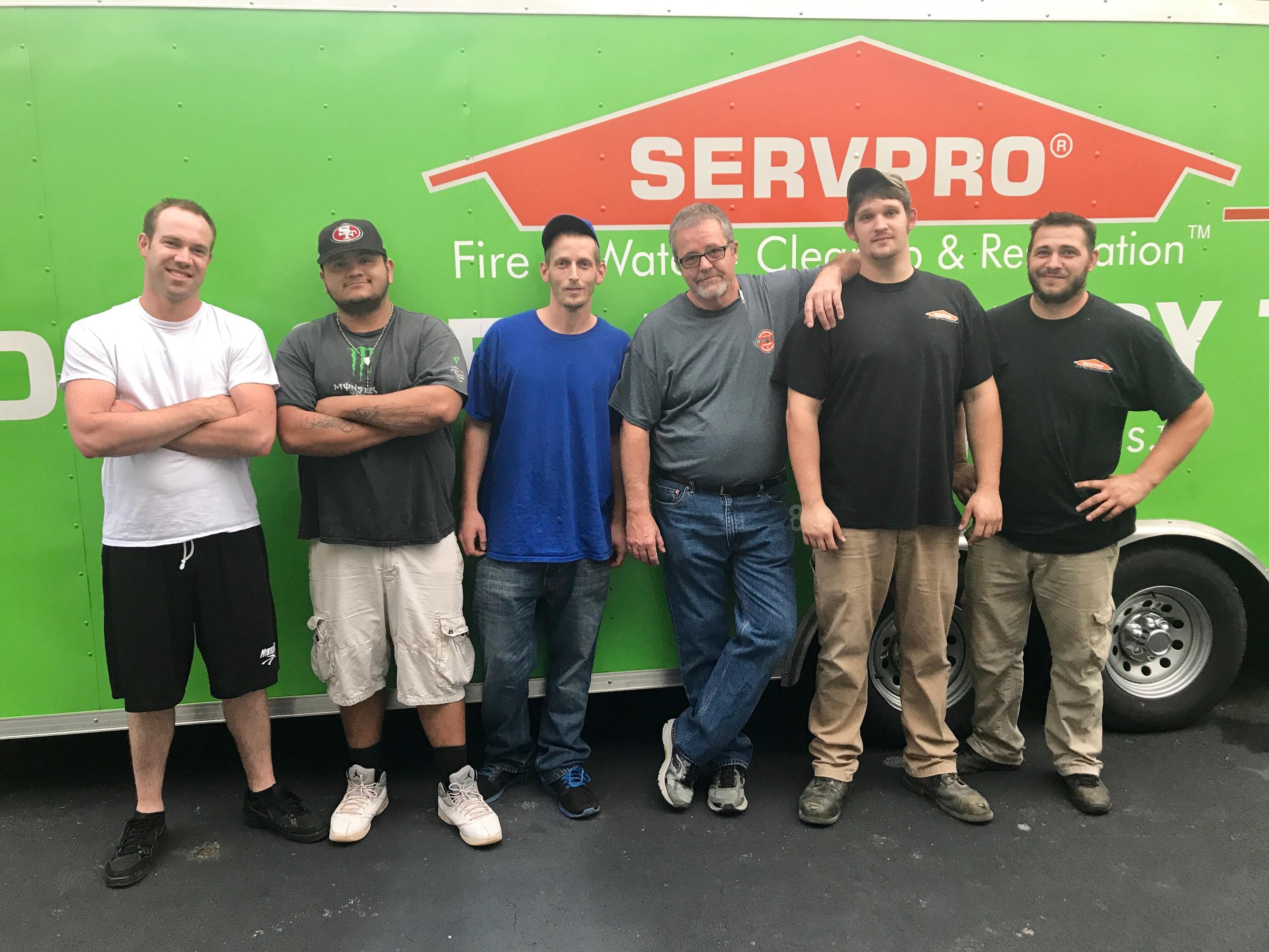 Our SERVPRO team is happy to serve you!