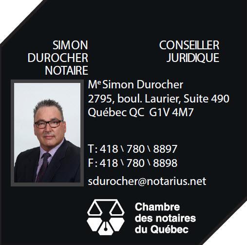 Me Simon Durocher, notaire