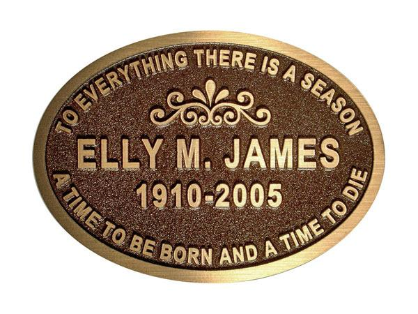 Oval bronze plaque