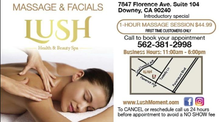 Lush Health and Beauty Spa - Downey, CA 90240 - (562)381-2998 | ShowMeLocal.com