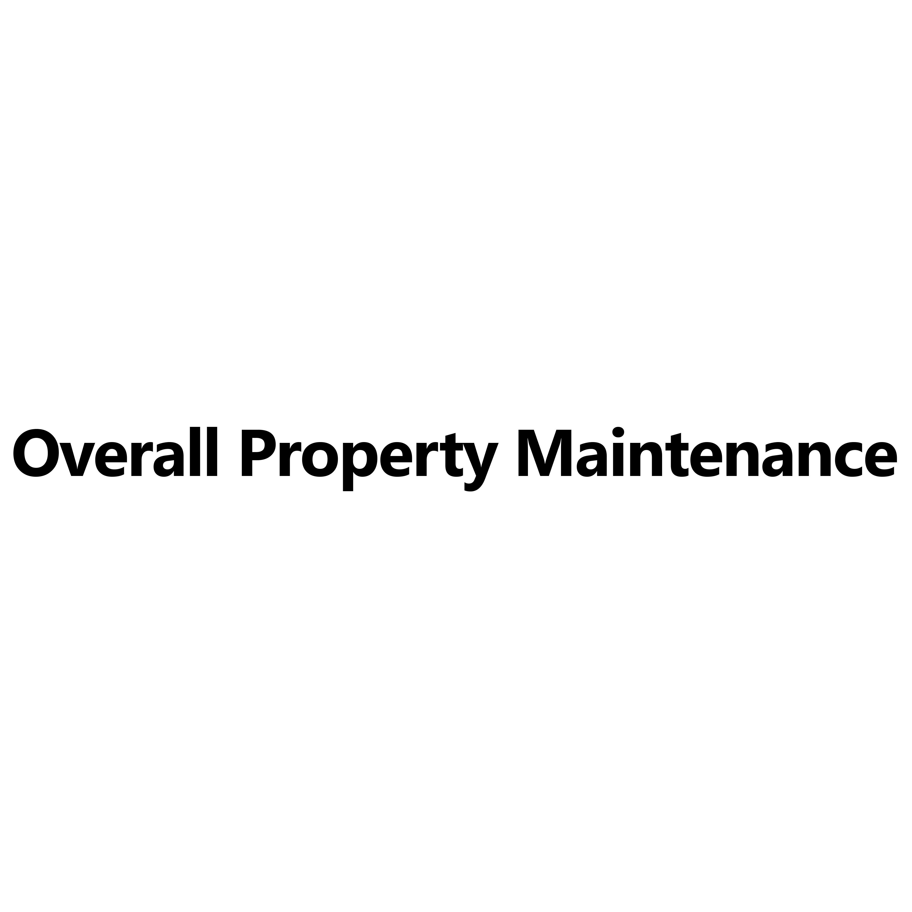 Overall Property Maintenance Logo
