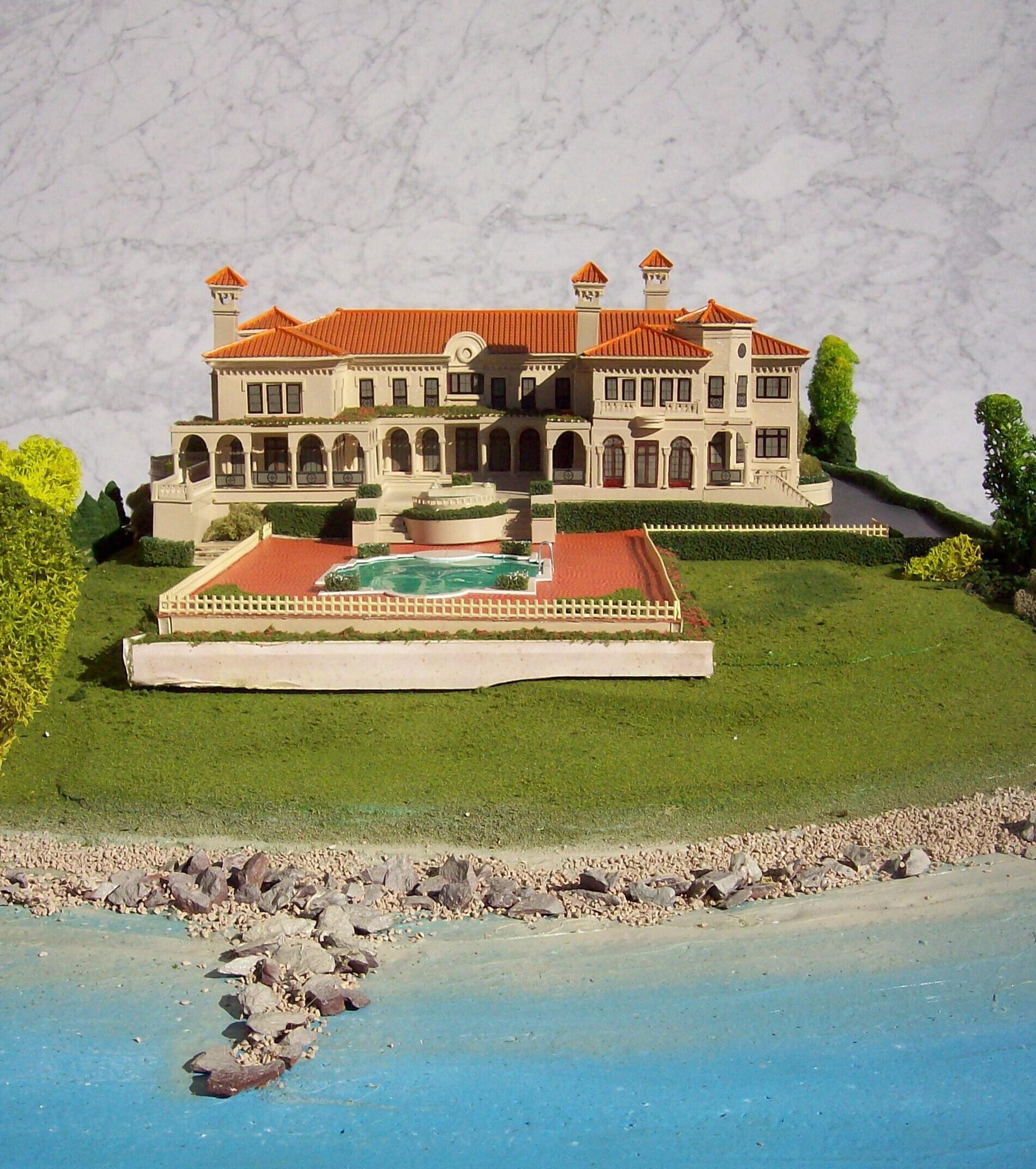 Model of a newly designed estate on Gold Coast of Long Island