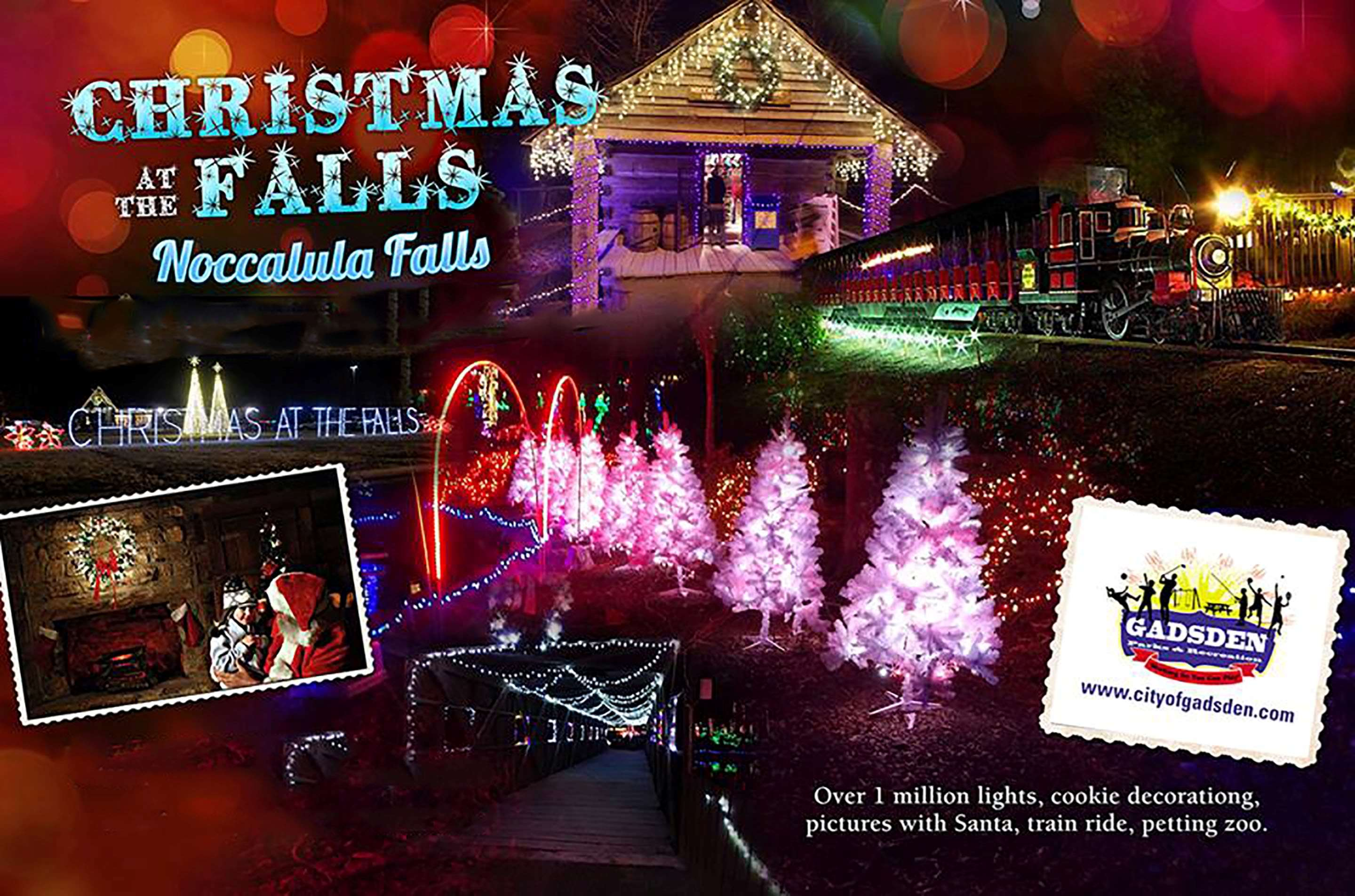 Christmas at Noccalula Falls
