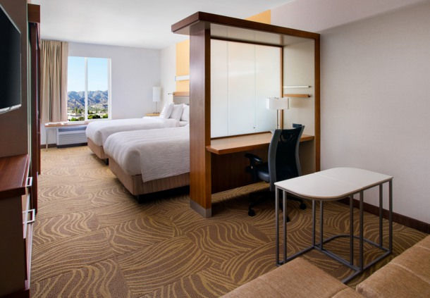 Enjoy views of beautiful mountains and North Hollywood right from your suite.