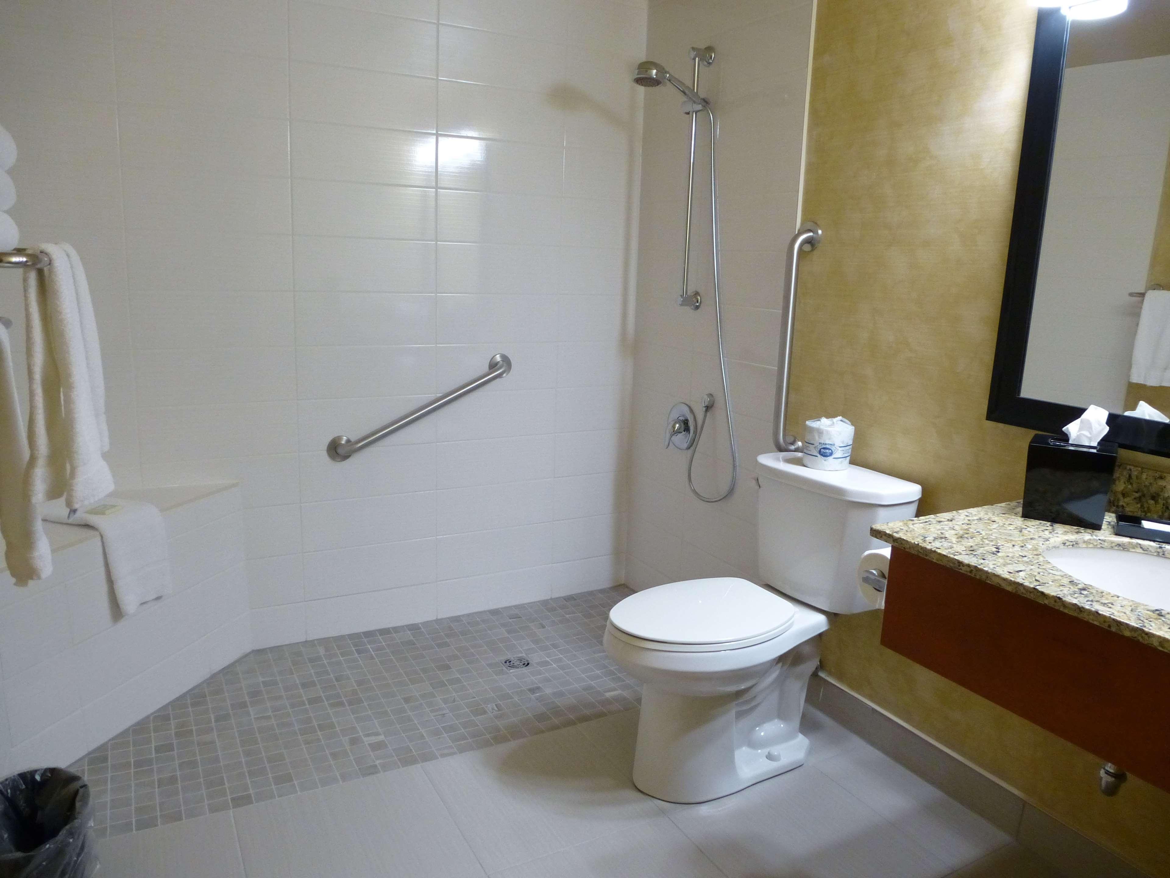 Best Western Plus Rose City Suites in Welland: Guest Bathroom Roll-in Shower