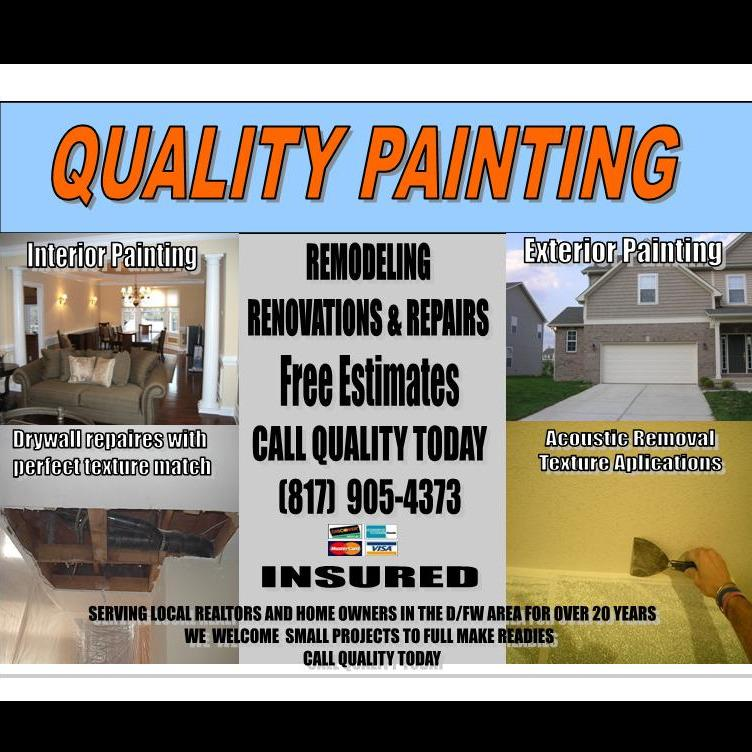 QUALITY PAINTING AND DRYWALL - Bedford, TX 76021 - (817)905-4373 | ShowMeLocal.com