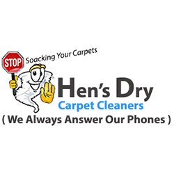 Hen's Dry Carpet And Upholstery Cleaning Logo