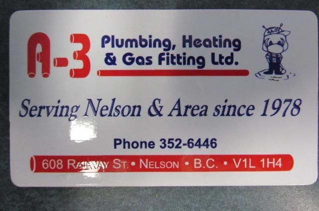 A-3 Plumbing Heating & Gas Fitting Ltd