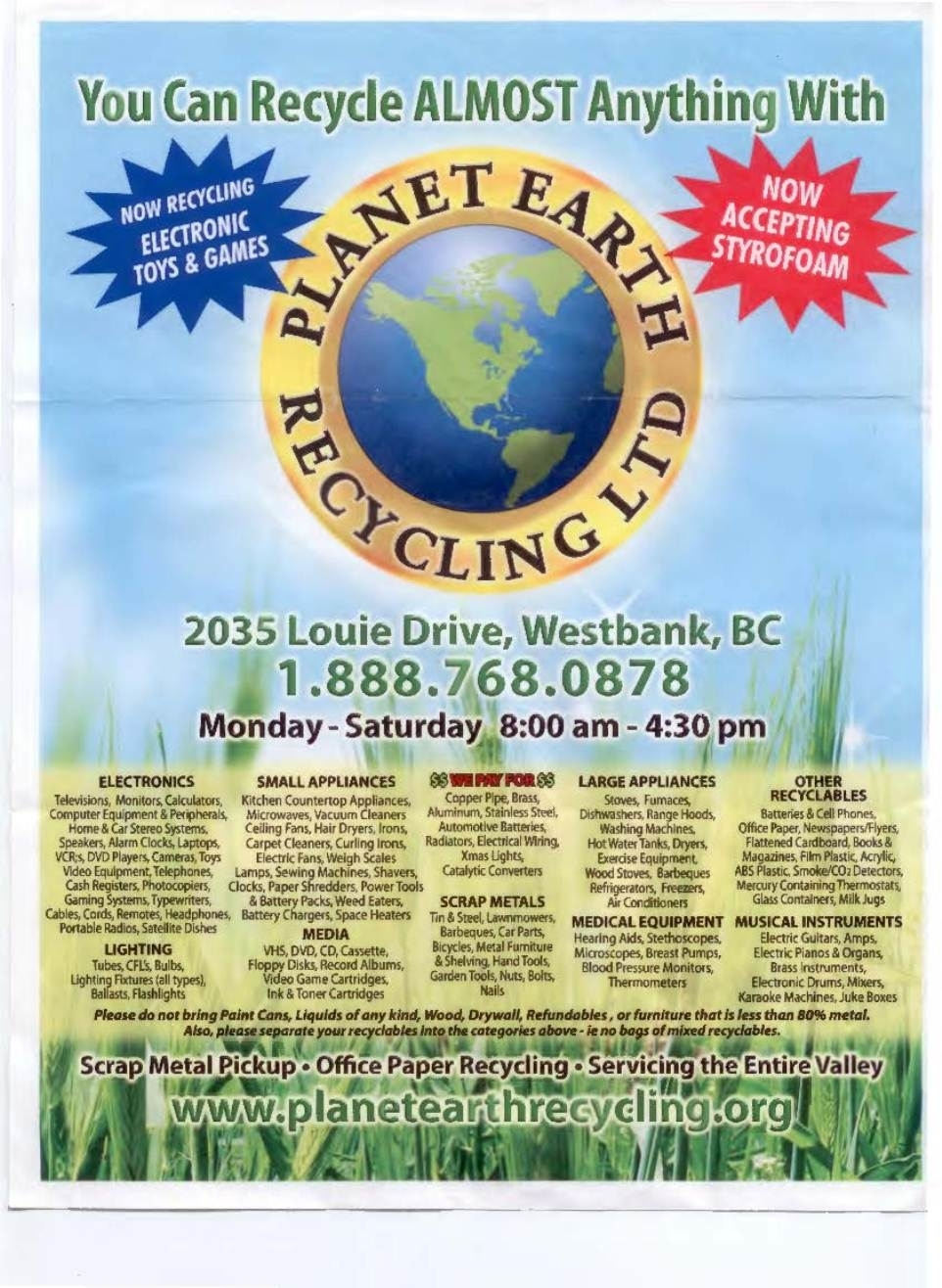 Planet Earth Recycling