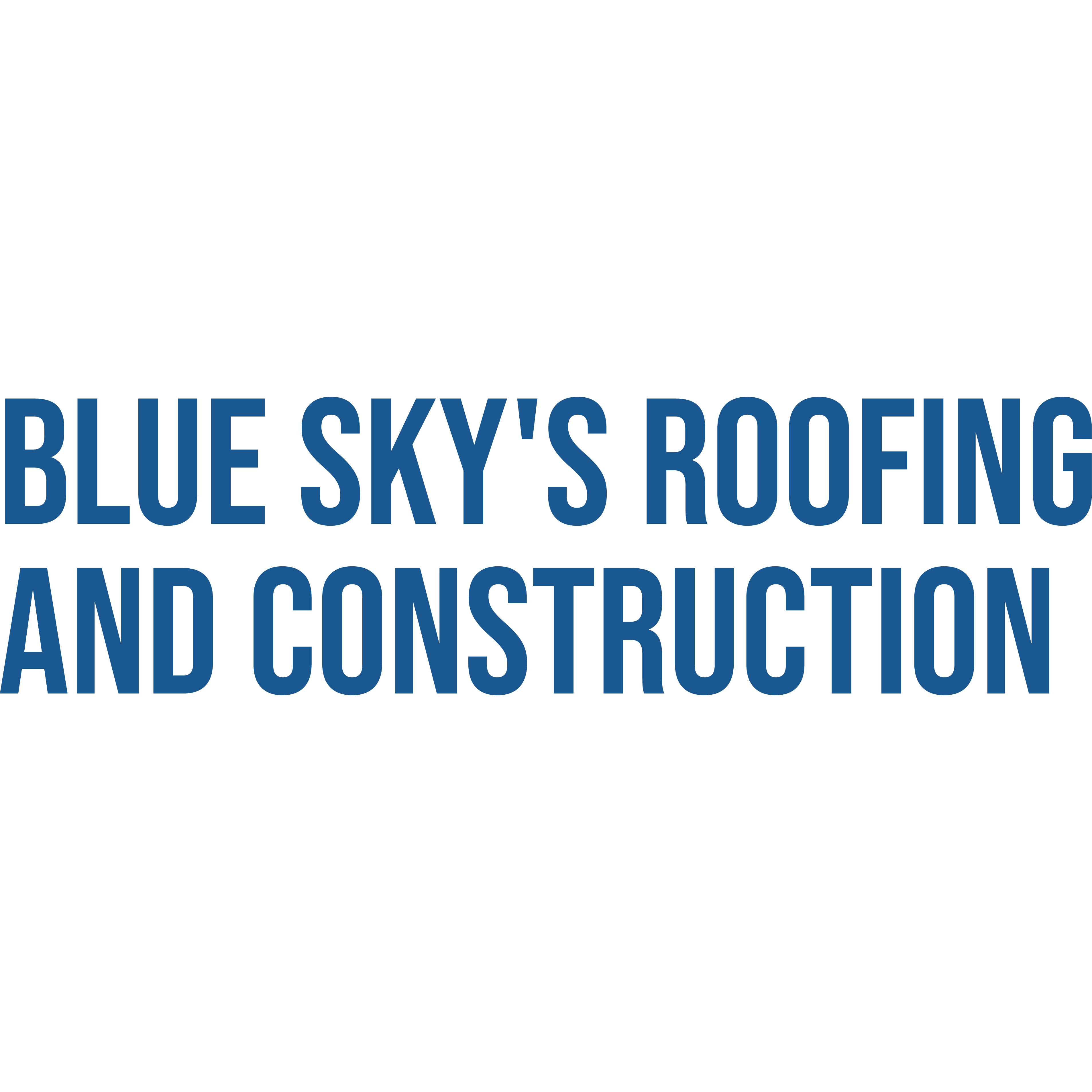 Blue Sky's Roofing and Construction Logo