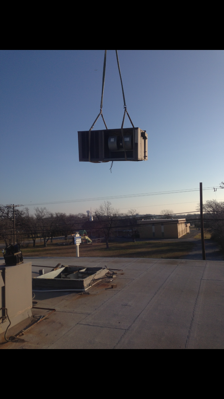 Removing the roof top unit