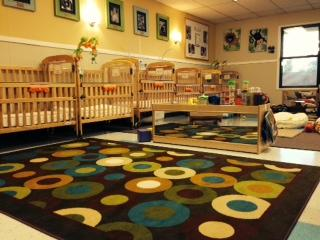 Your infant will be very comfortable in our warm and welcoming classroom.