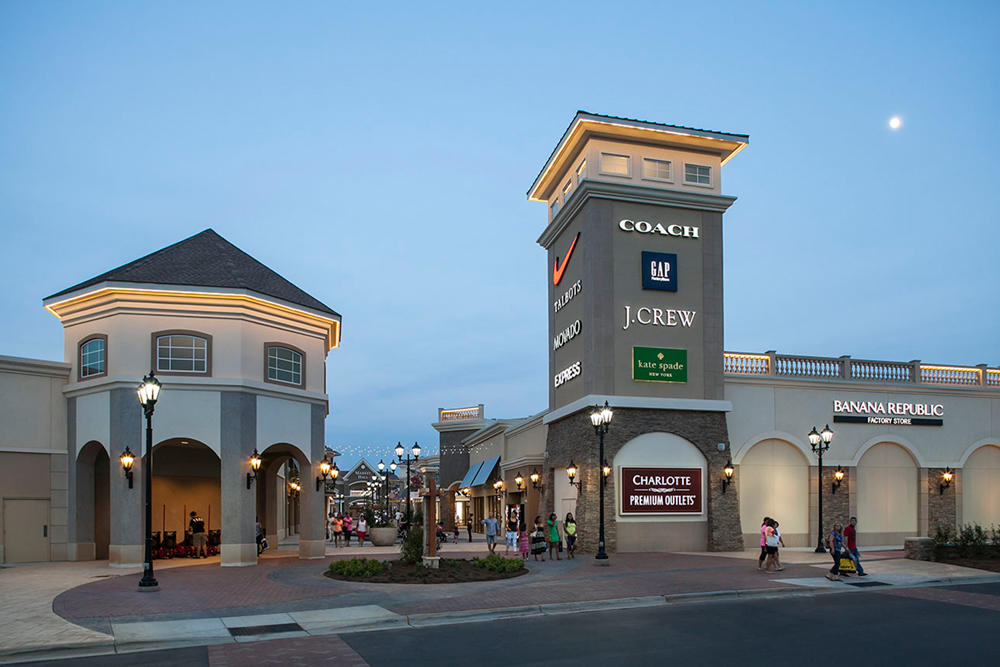 Charlotte Premium Outlets is located in Charlotte, North Carolina and offers stores - Scroll down for Charlotte Premium Outlets outlet shopping information: store list, locations, outlet mall hours, contact and address.3/5(2).