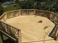 This is a view from the roof where the owner plans to eventually install a gazebo and a hot tub.