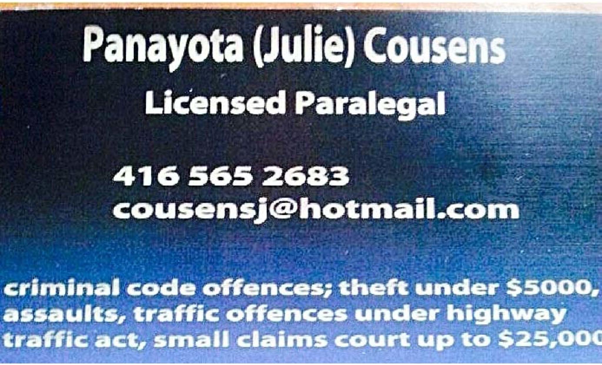 Julie Panayota Cousens