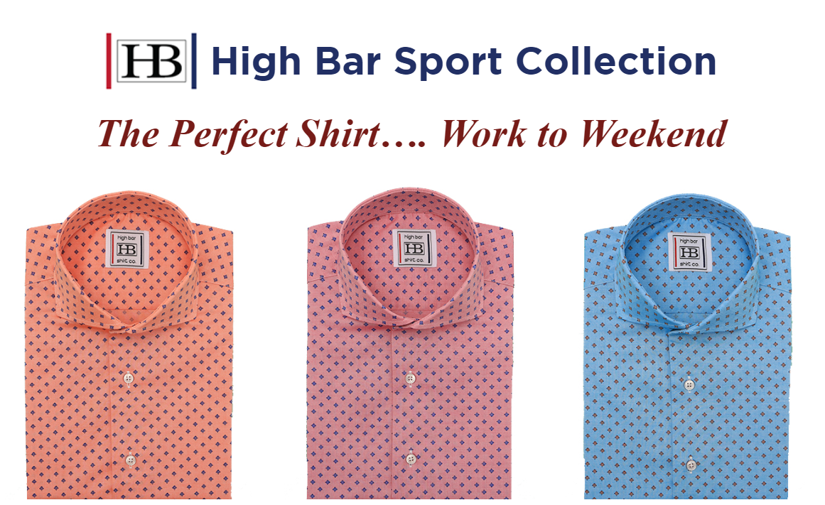Choose your own look with custom and sport collection shirts.