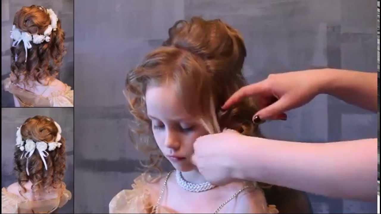 Прически для девочек на длинные волосы для выступления