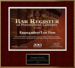 Preeminent Rated Baumgartner Law Firm 6711 Cypress Creek Pkwy Houston, TX  77069  (281) 587-1111