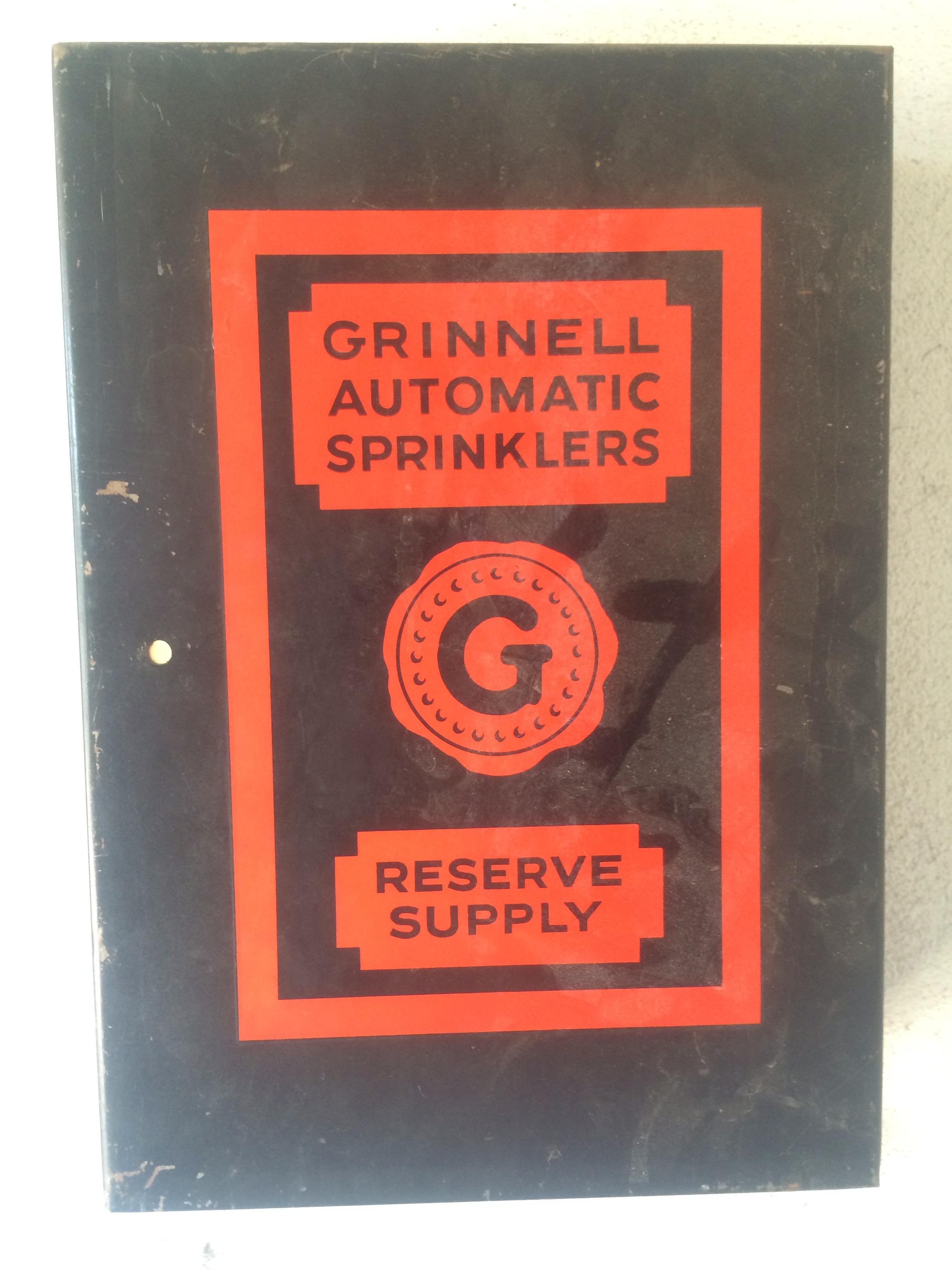 Sprinkler system upgrade project.  Spare sprinkler head panel - antique, early 1960's