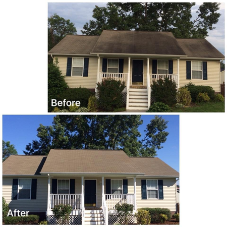 Roof cleaning and soft washing in Johnson City, TN.