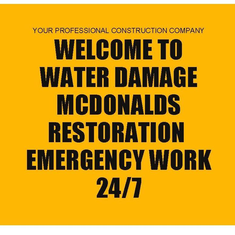 Water Damage Mcdonalds Restoration