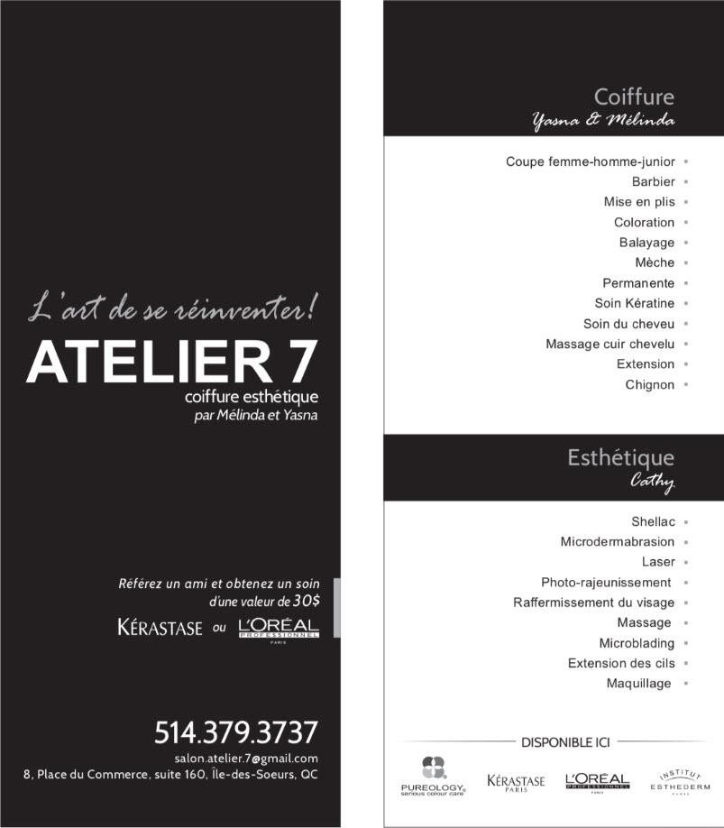 Atelier7 Coiffure et Esthétique
