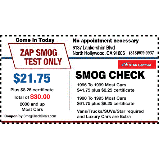 ZAP Smog Test Only Center