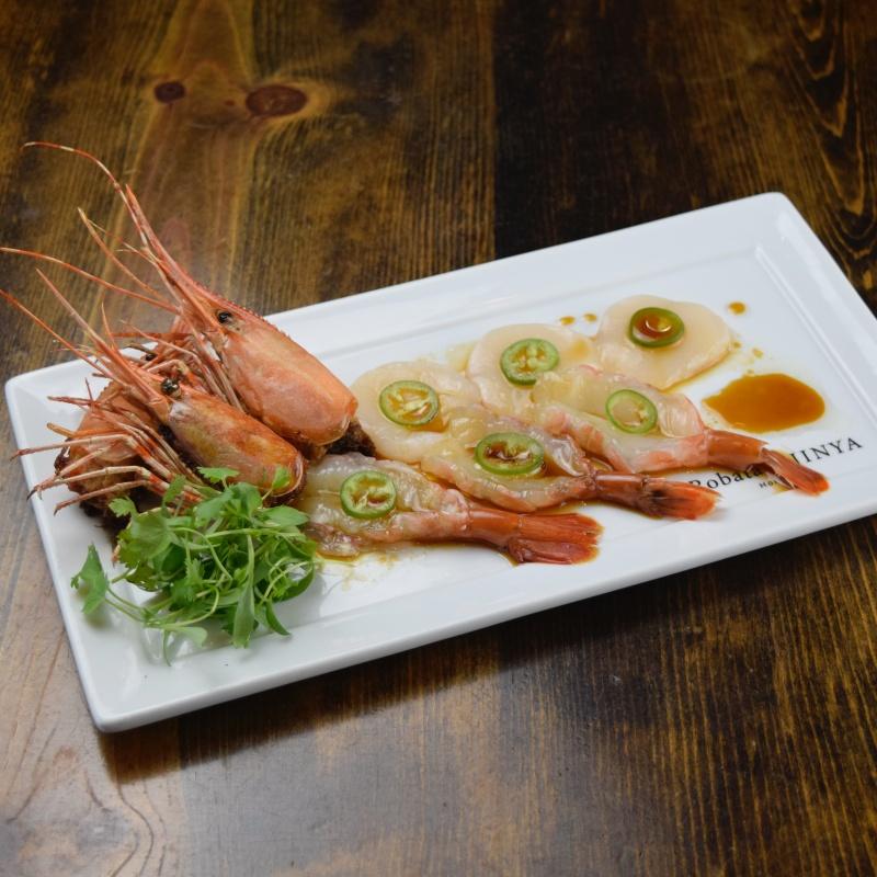 Click to expand image of Botan Ebi & Scallop Jalapeno w/ yuzu citrus soy sauce
