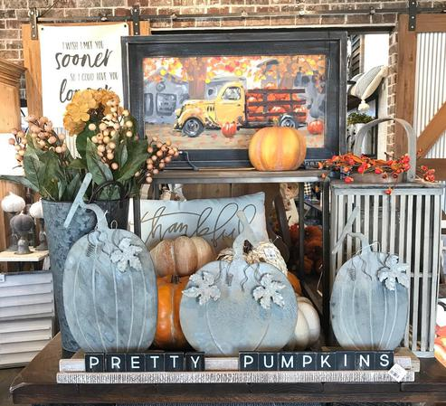 The Farmhouse has tons of fun fall decor in-store now.