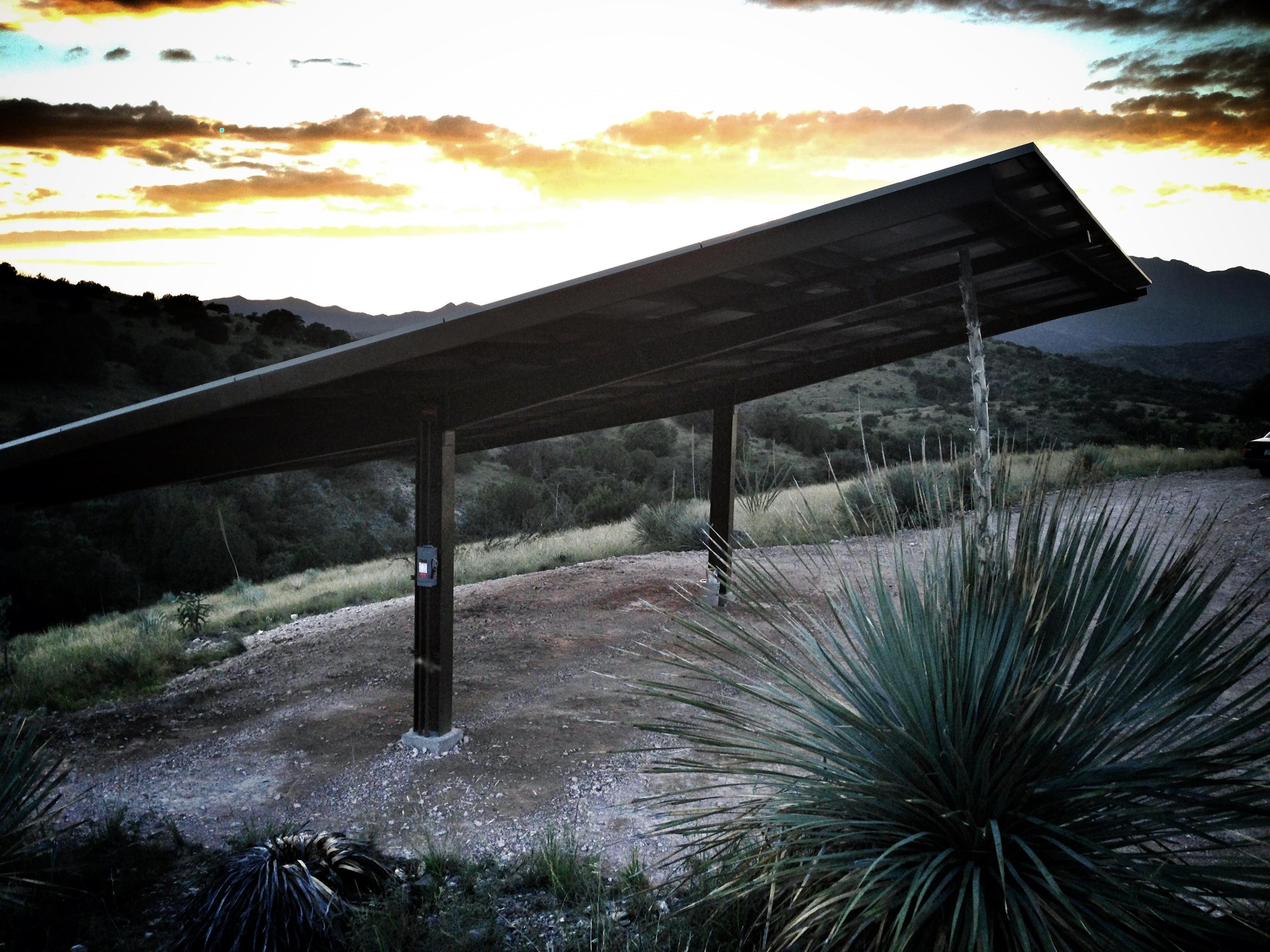 Custom 20kW Residential Solar Canopy - Sonoita, AZ.