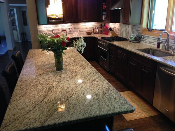 Superieur Giallo Ornamental Kitchen Granite Countertops In Franklin, MI.