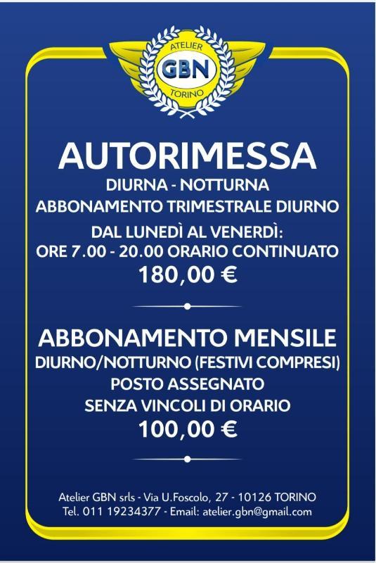 Atelier Gbn Torino Autorimessa - Autolavaggio