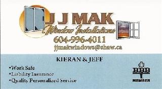 JJMAK Window Installations