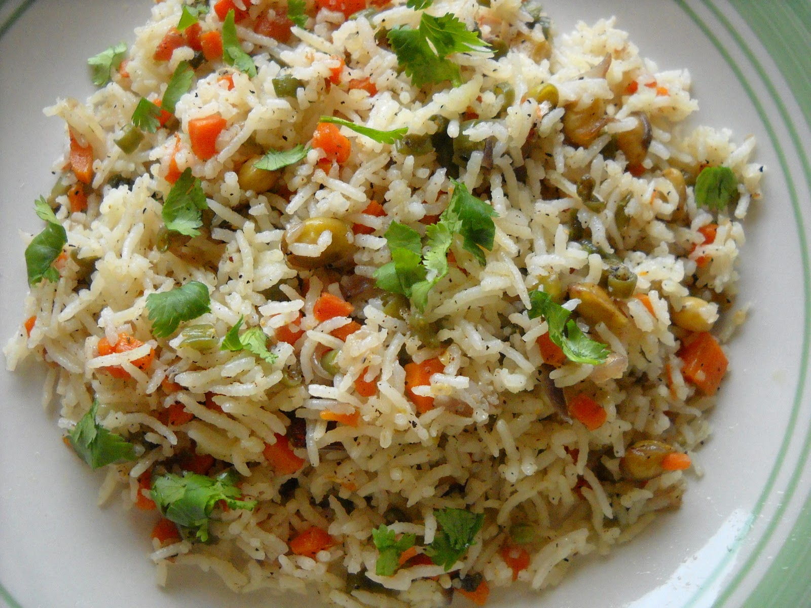 Indian Vegetable Fried Rice Fodni bhaat ( indian fried rice ) recipes ...