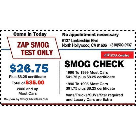 ZAP Smog Test Only Center